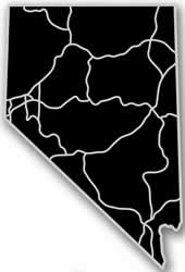 Nevada - Acrylic Cutout State Map - Black/Grey USA States Acrylic Art