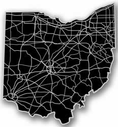 Ohio - Acrylic Cutout State Map - Black/Grey USA States Acrylic Art