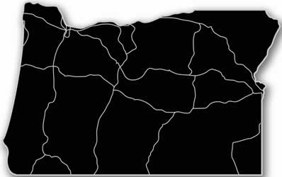 Oregon - Acrylic Cutout State Map - Black/Grey USA States Acrylic Art