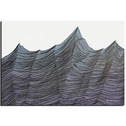 Richard Knight Brisk Range 32in x 22in Abstract Landscape Art on Polymetal