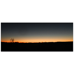 Western Wall Art Desert Sunset - American West Decor on Metal or Plexiglass