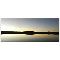 Western Wall Art Lakeside Sunset - American West Decor on Metal or Plexiglass