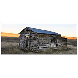Western Wall Art The Log House - American West Decor on Metal or Plexiglass