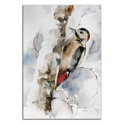 Woodpecker - Modern Metal Wall Art