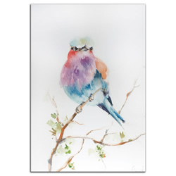 Lilac Bird - Modern Metal Wall Art
