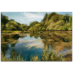 Traditional Wall Art Lake - River Landscape Decor on Metal or Plexiglass