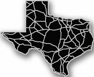 Texas - Acrylic Cutout State Map - Black/Grey USA States Acrylic Art