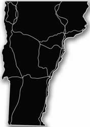 Vermont - Acrylic Cutout State Map - Black/Grey USA States Acrylic Art
