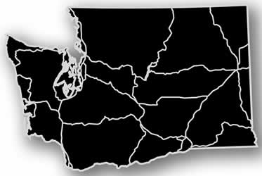 Washington - Acrylic Cutout State Map - Black/Grey USA States Acrylic Art