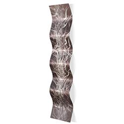 Electric Wave 9.5x44in. Metal Eclectic Decor