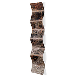 Storm Brown Wave 9.5x44in. Metal Eclectic Decor