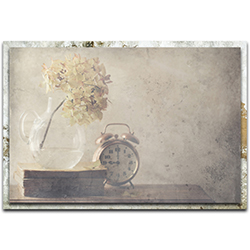 Delphine Devos Disillusionment of Nine OClock 32in x 22in Modern Farmhouse Floral on Metal