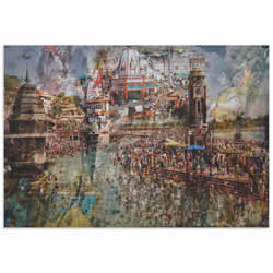Holy India by Ralf Kayser - Indian Landmarks Art on Metal or Acrylic