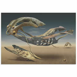 Surreal Desert by Radoslav Penchev - Surreal Landscape Art on Metal or Acrylic