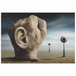 Power of Communication by Ben Goossens - Surreal Figurative Art on Metal or Acrylic