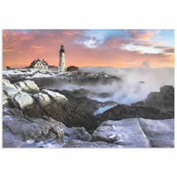 Frozen Lighthouse by Benjamin Williamson - Coastal Wall Art on Metal or Acrylic