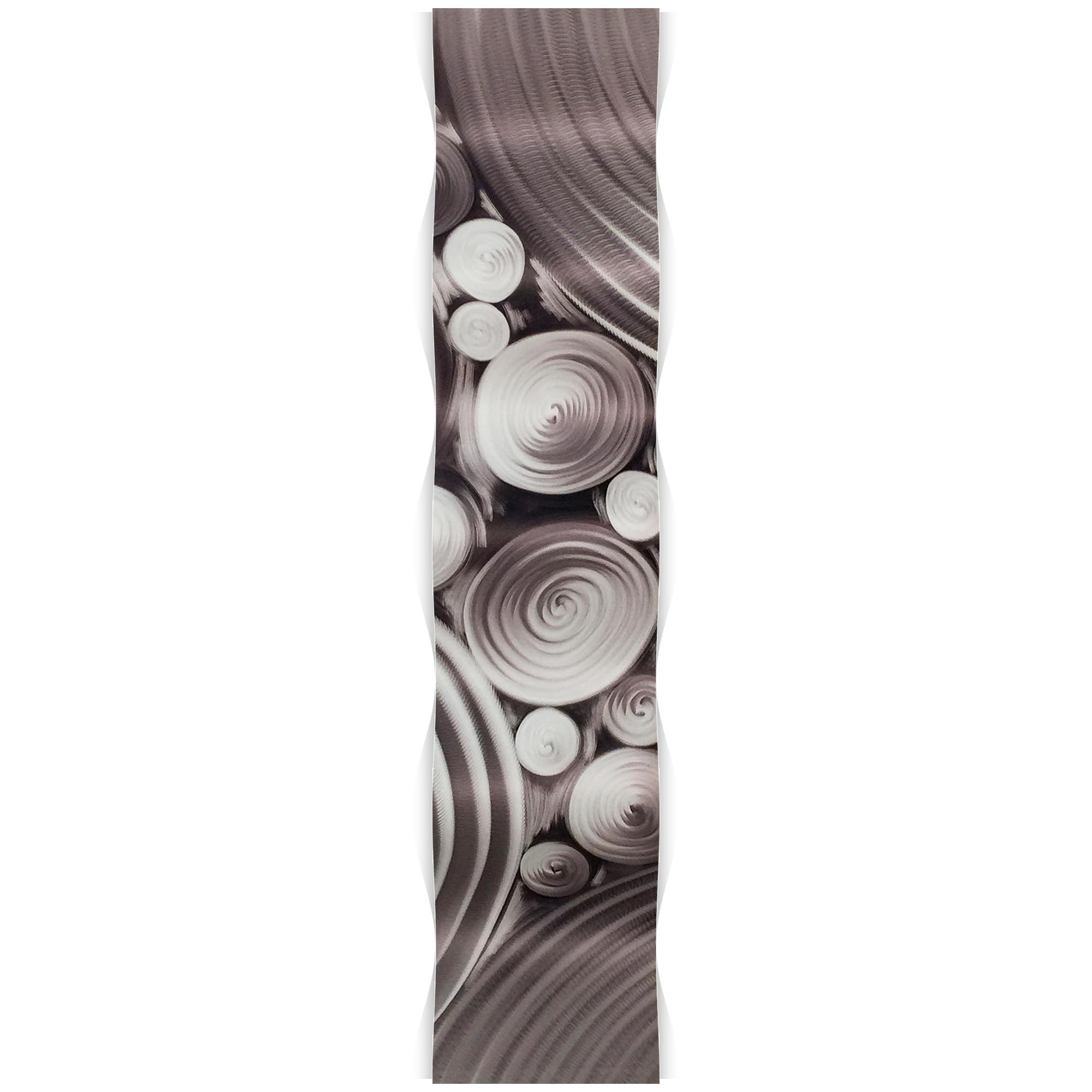 Interdiffusion Wave 9.5x44in. Metal Eclectic Decor - Image 2