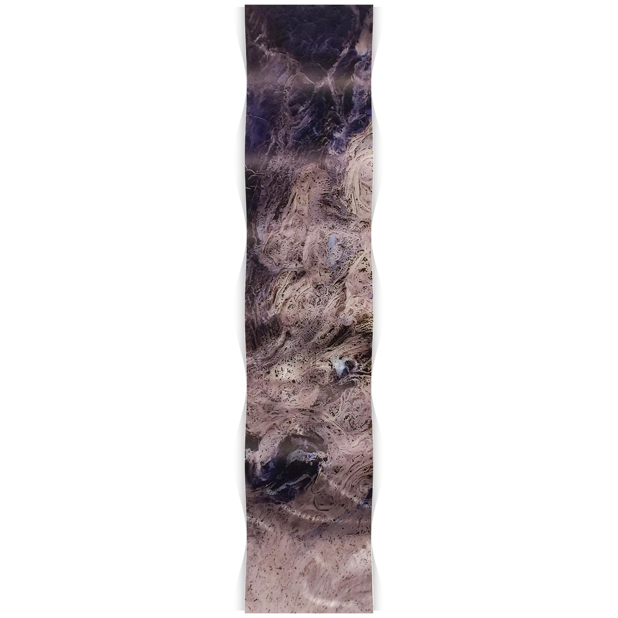 Storm Blue Wave 9.5x44in. Metal Eclectic Decor - Image 2