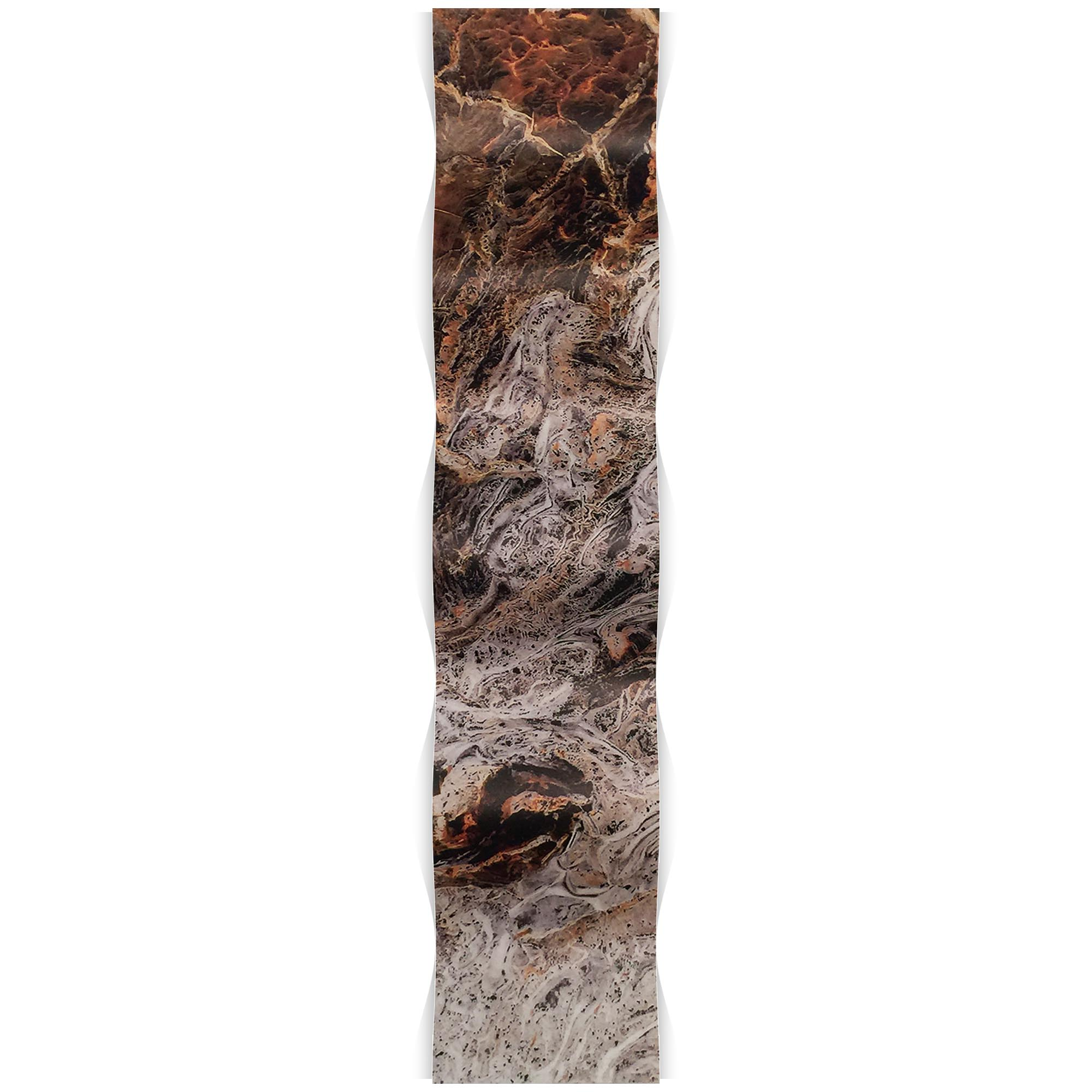 Storm Brown Wave 9.5x44in. Metal Eclectic Decor - Image 2