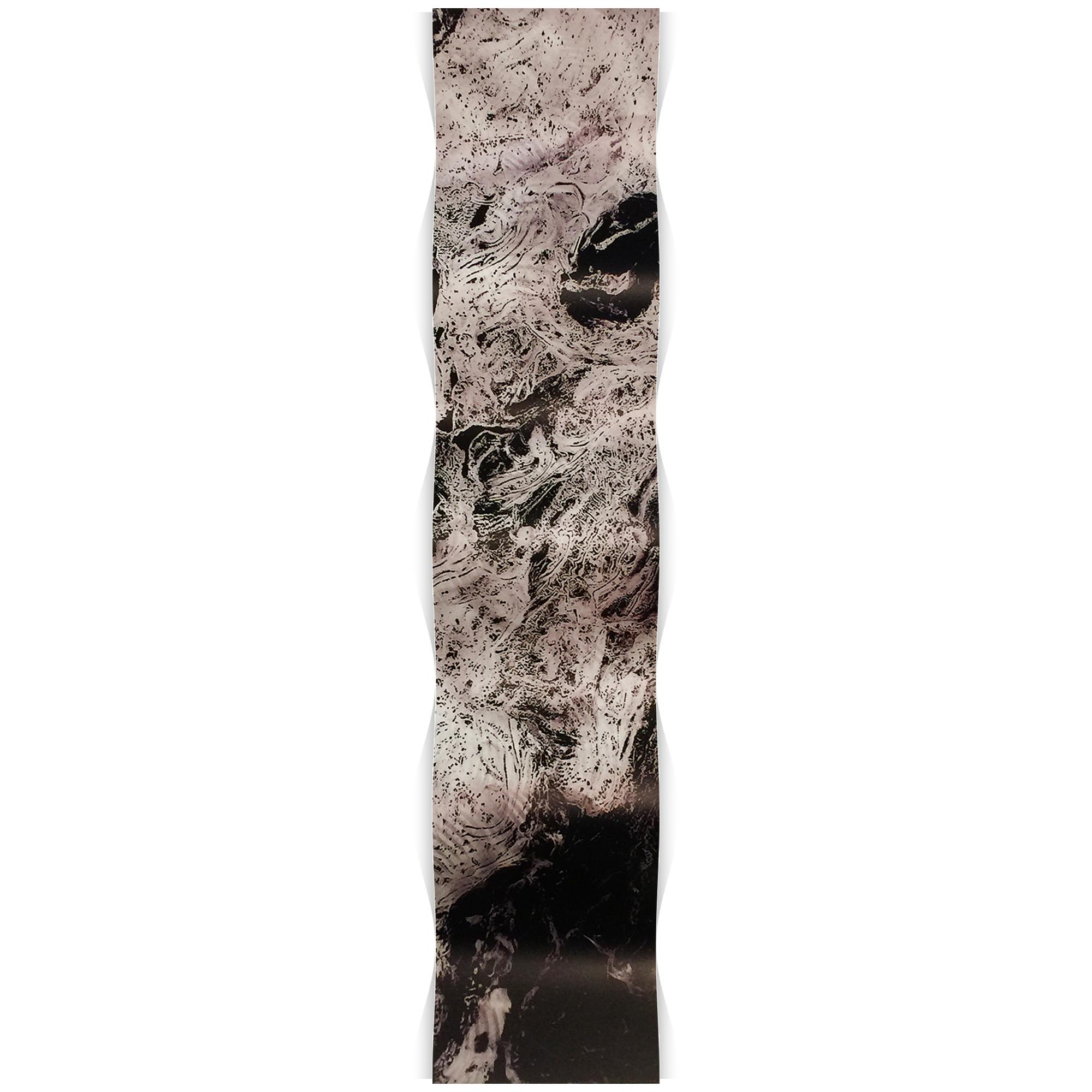 Storm Black Wave 9.5x44in. Metal Eclectic Decor - Image 2
