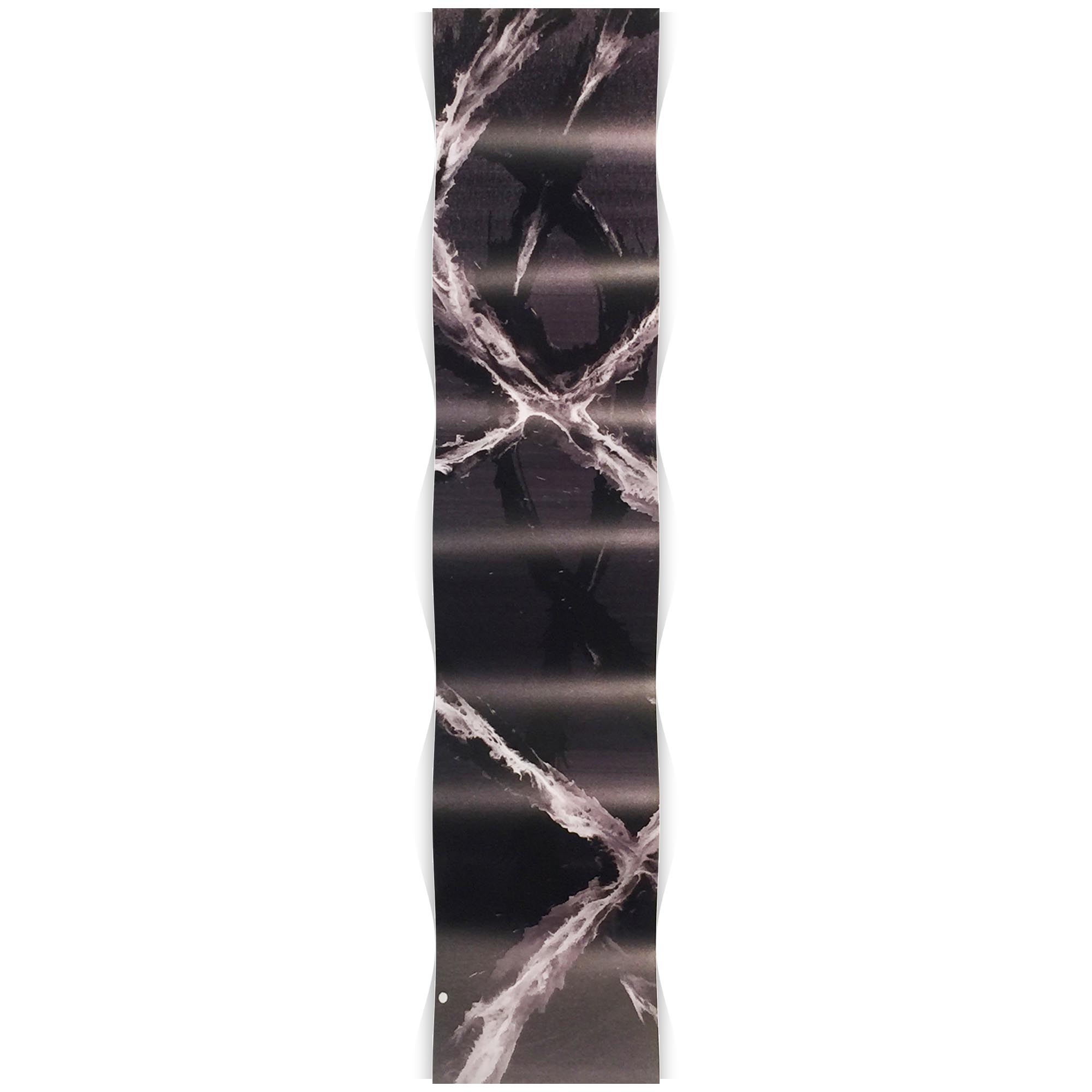 Black and White Wave 9.5x44in. Metal Eclectic Decor - Image 2