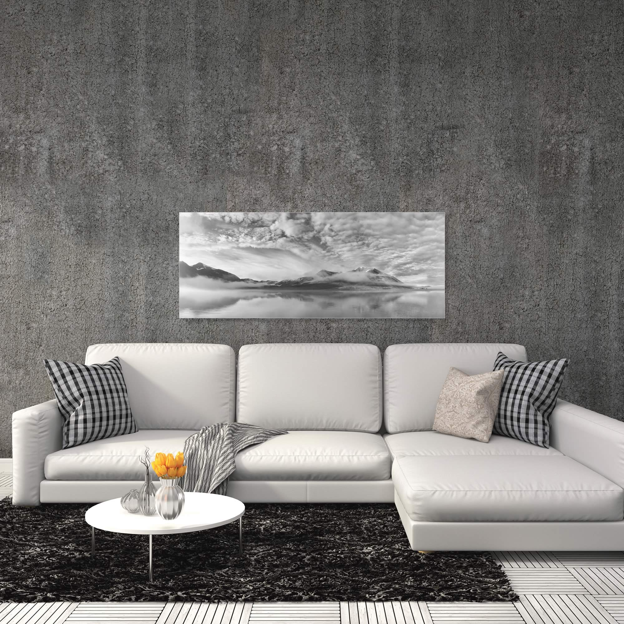 Morning Mist by Marloes van Pareren - Black and White Photography on Metal or Acrylic - Alternate View 1