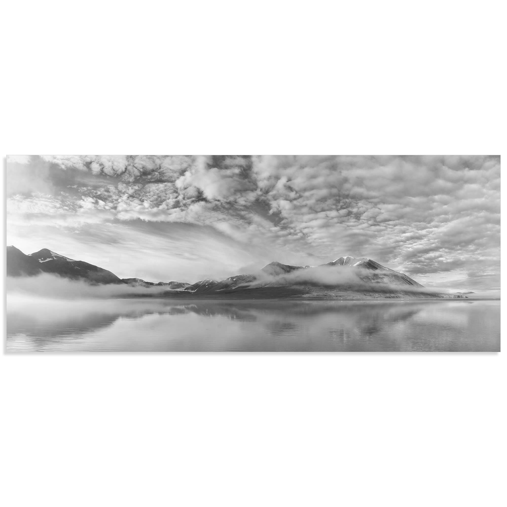 Morning Mist by Marloes van Pareren - Black and White Photography on Metal or Acrylic