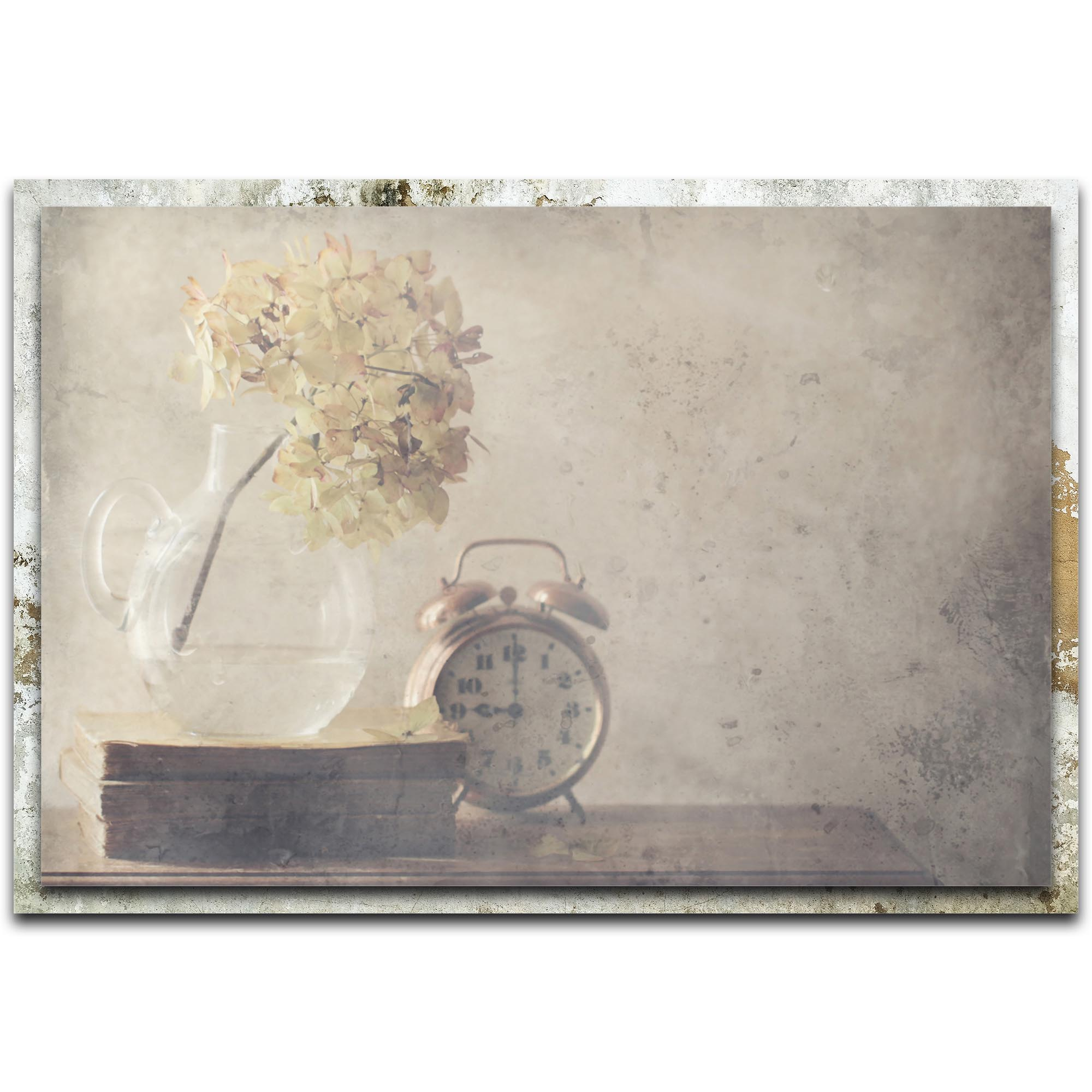 Delphine Devos 'Disillusionment of Nine O'Clock' 32in x 22in Modern Farmhouse Floral on Metal