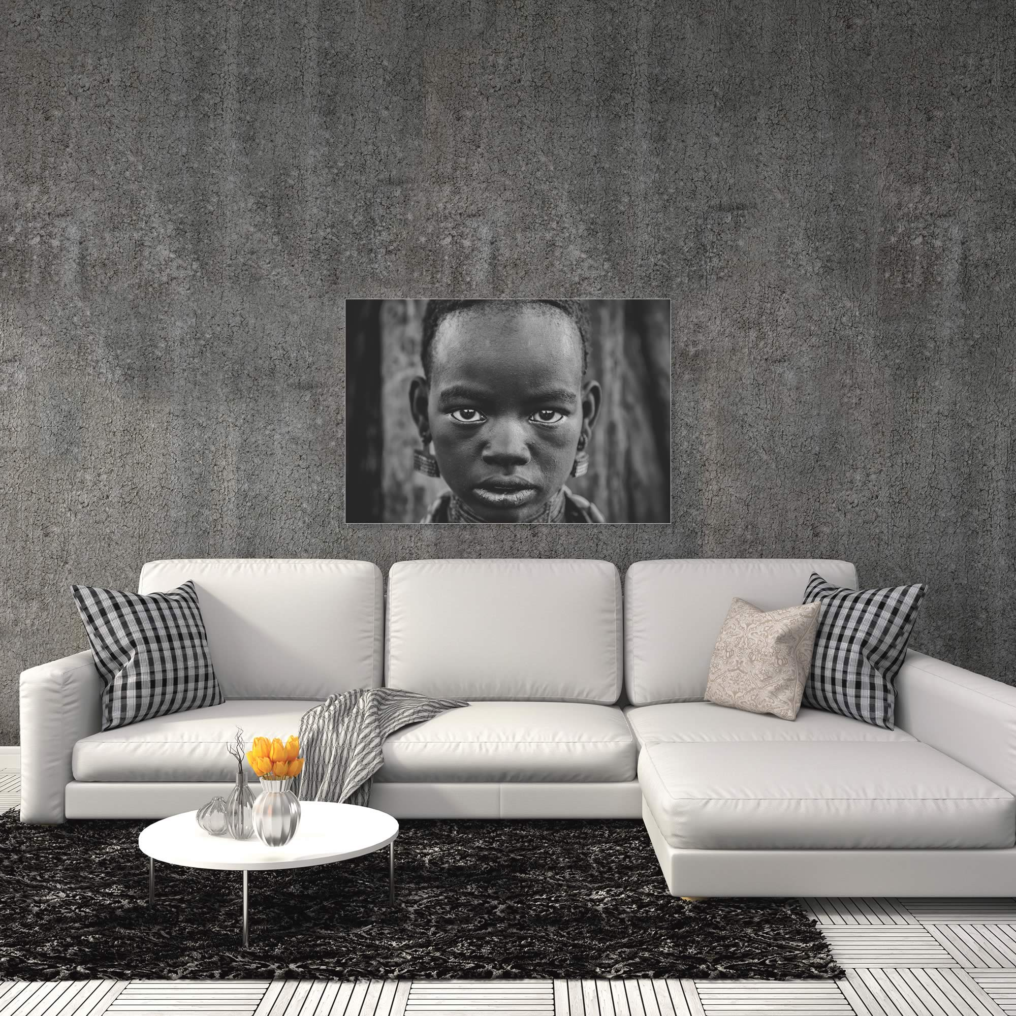 Hammer Girl by Mohammed Al Sulaili - African Fashion Art on Metal or Acrylic - Alternate View 1