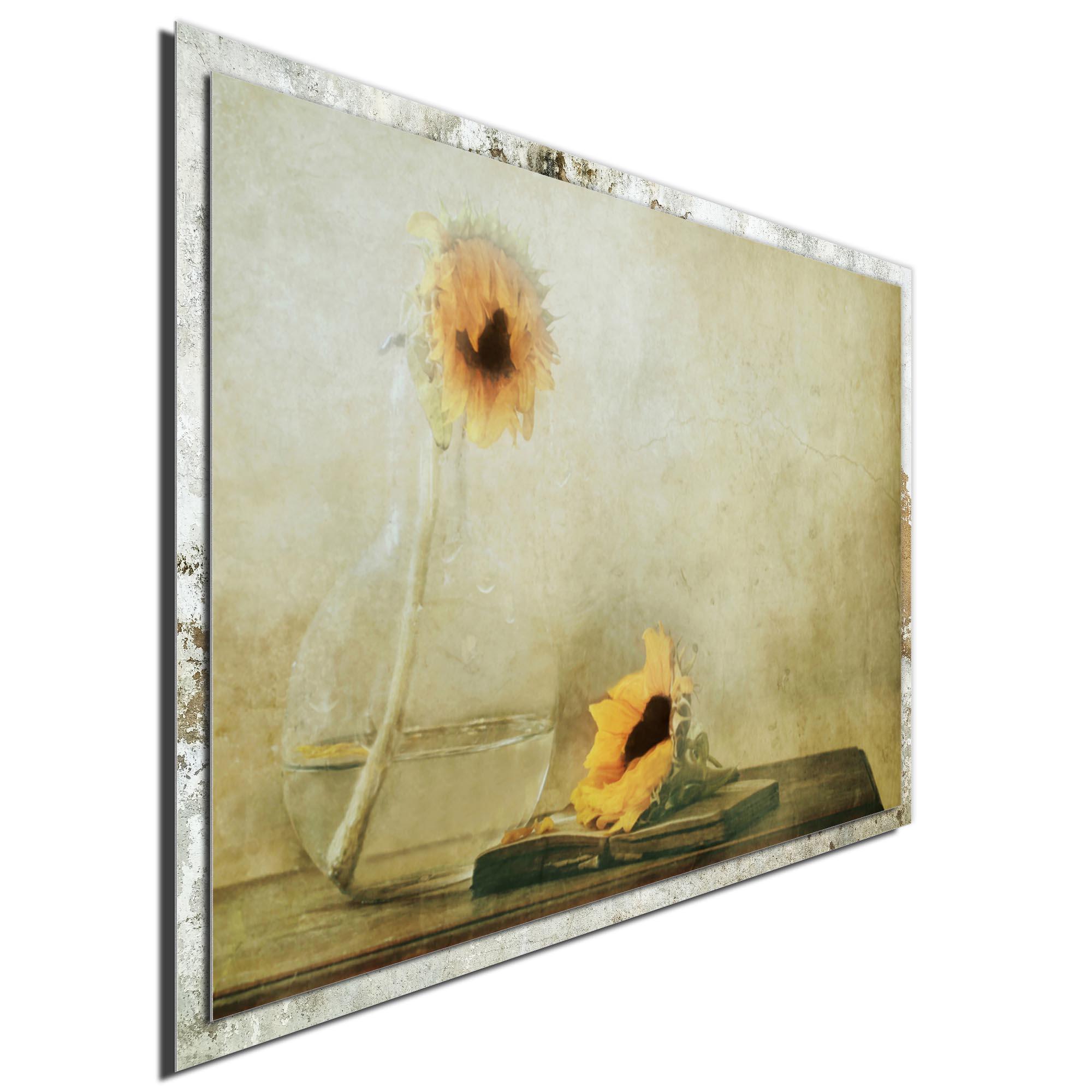 The Black Heart by Delphine Devos - Modern Farmhouse Floral on Metal - Image 2