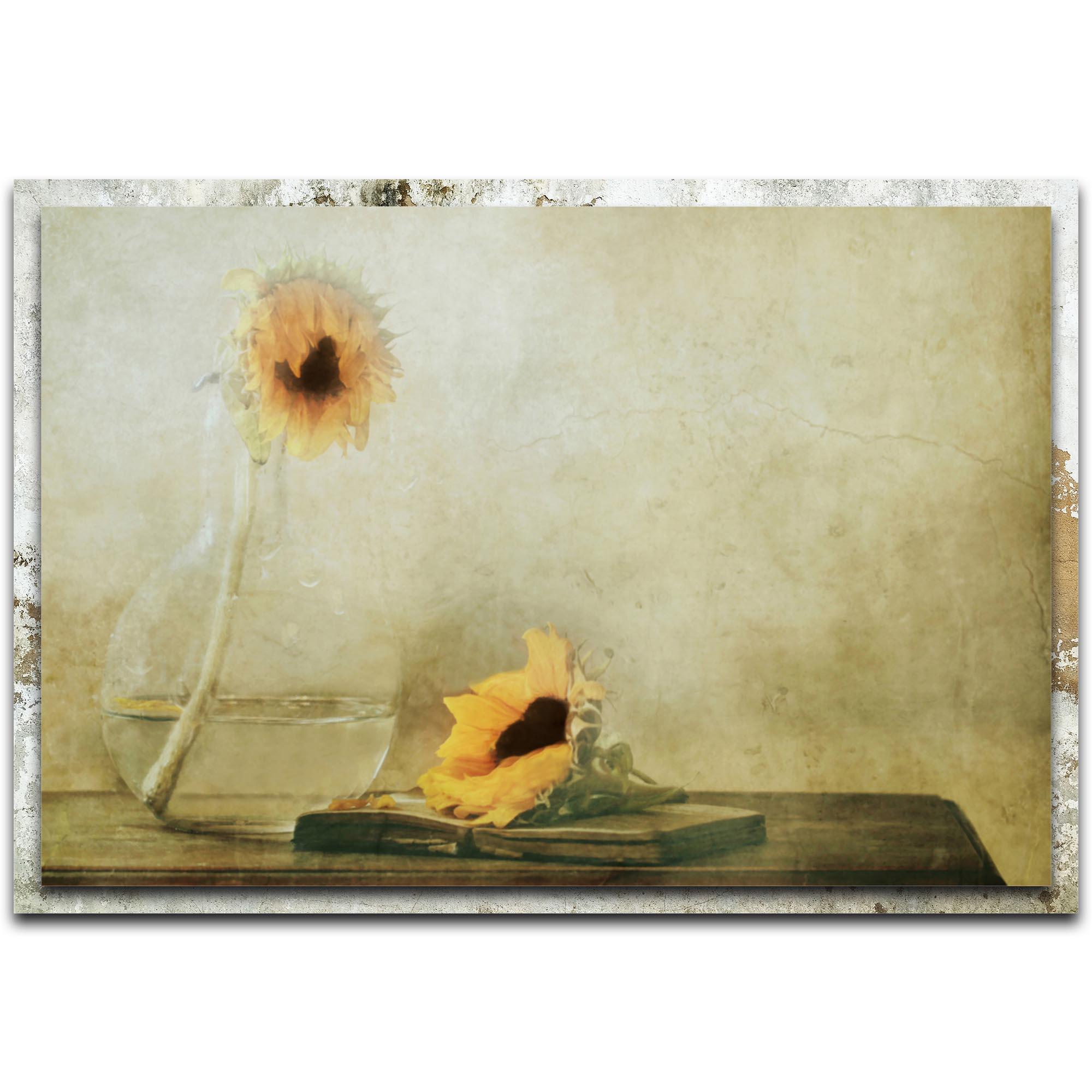 Delphine Devos 'The Black Heart' 32in x 22in Modern Farmhouse Floral on Metal