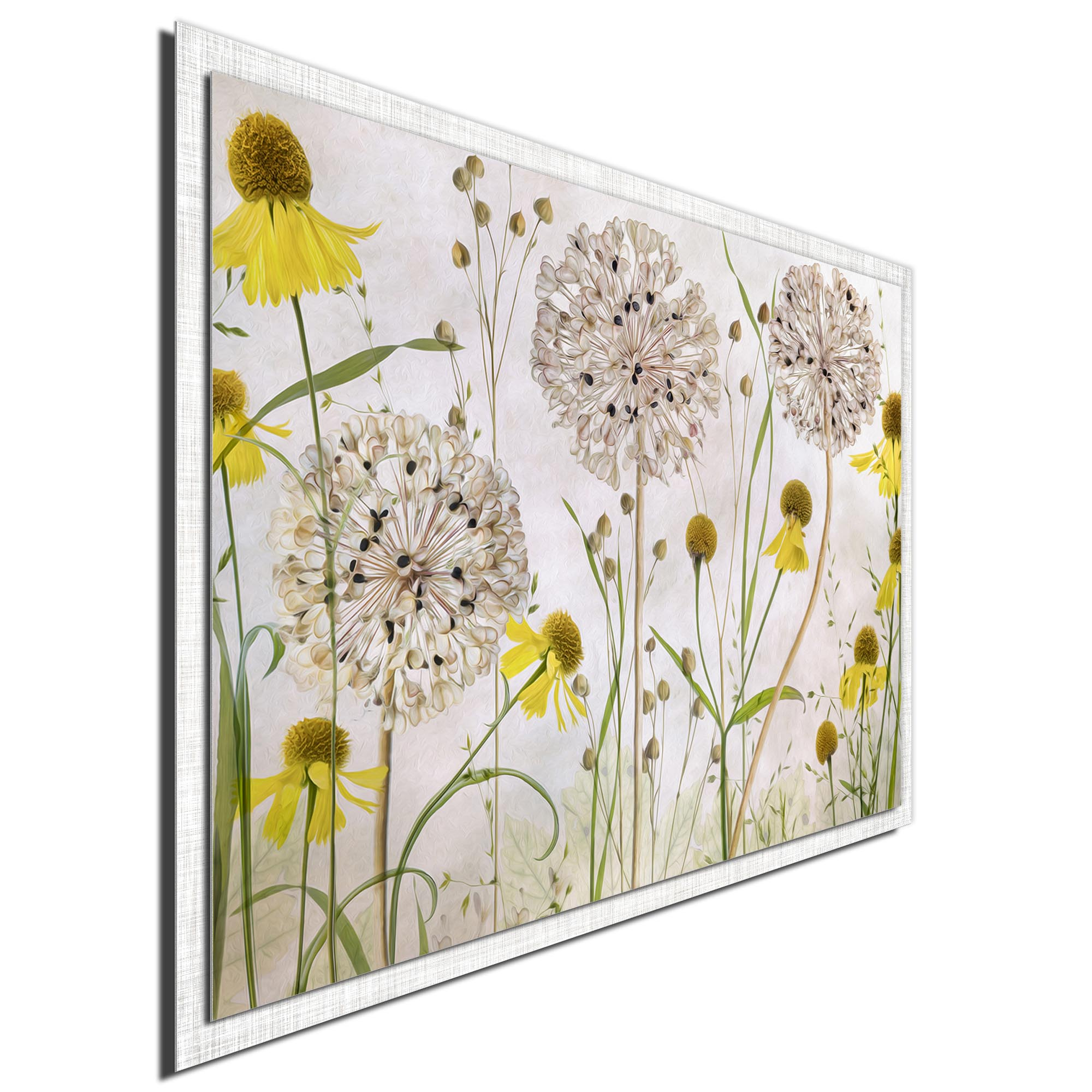 Alliums and Heleniums by Mandy Disher - Modern Farmhouse Floral on Metal - Image 2