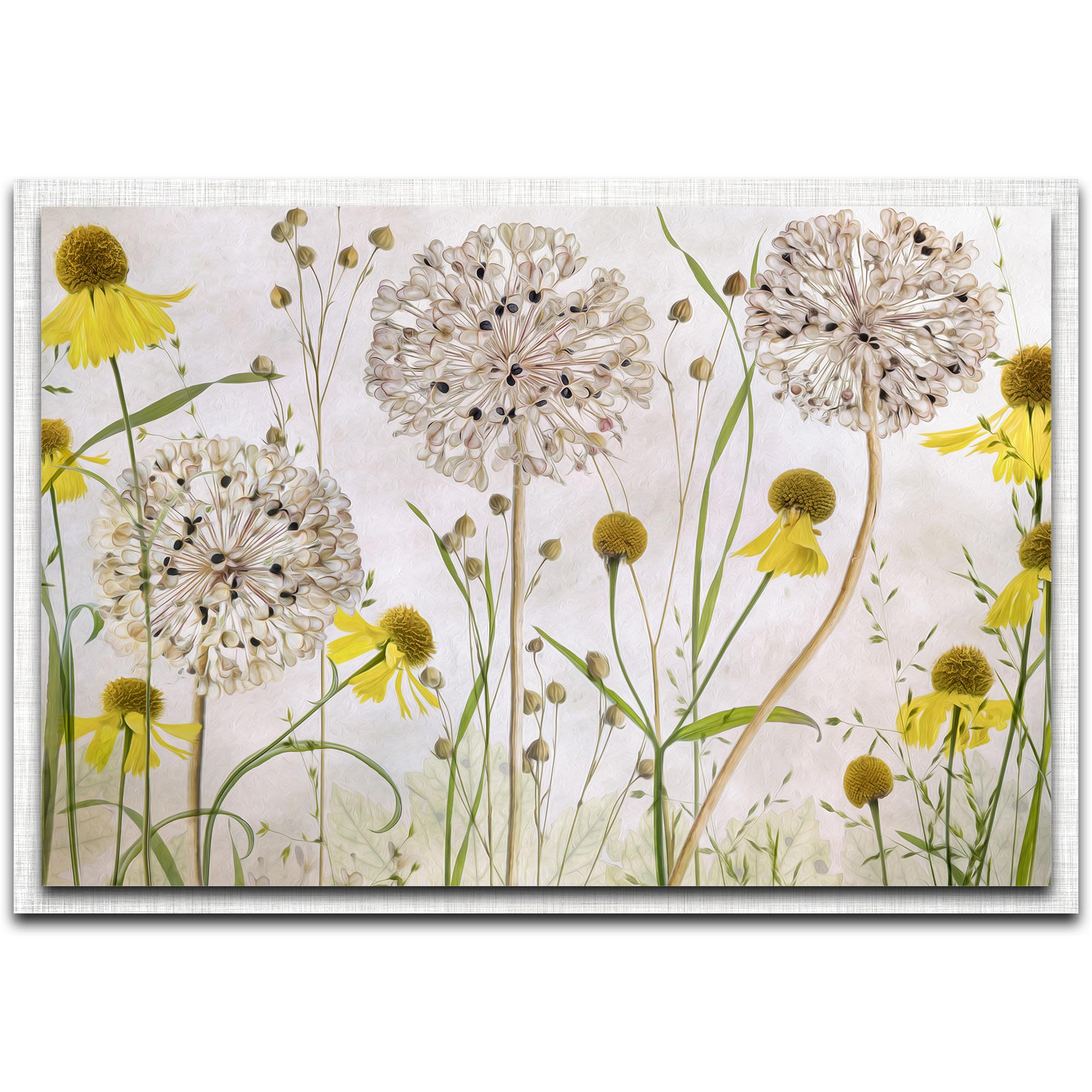 Metal Art Studio Alliums And Heleniums By Mandy Disher Modern Farmhouse Floral On Metal X1092592