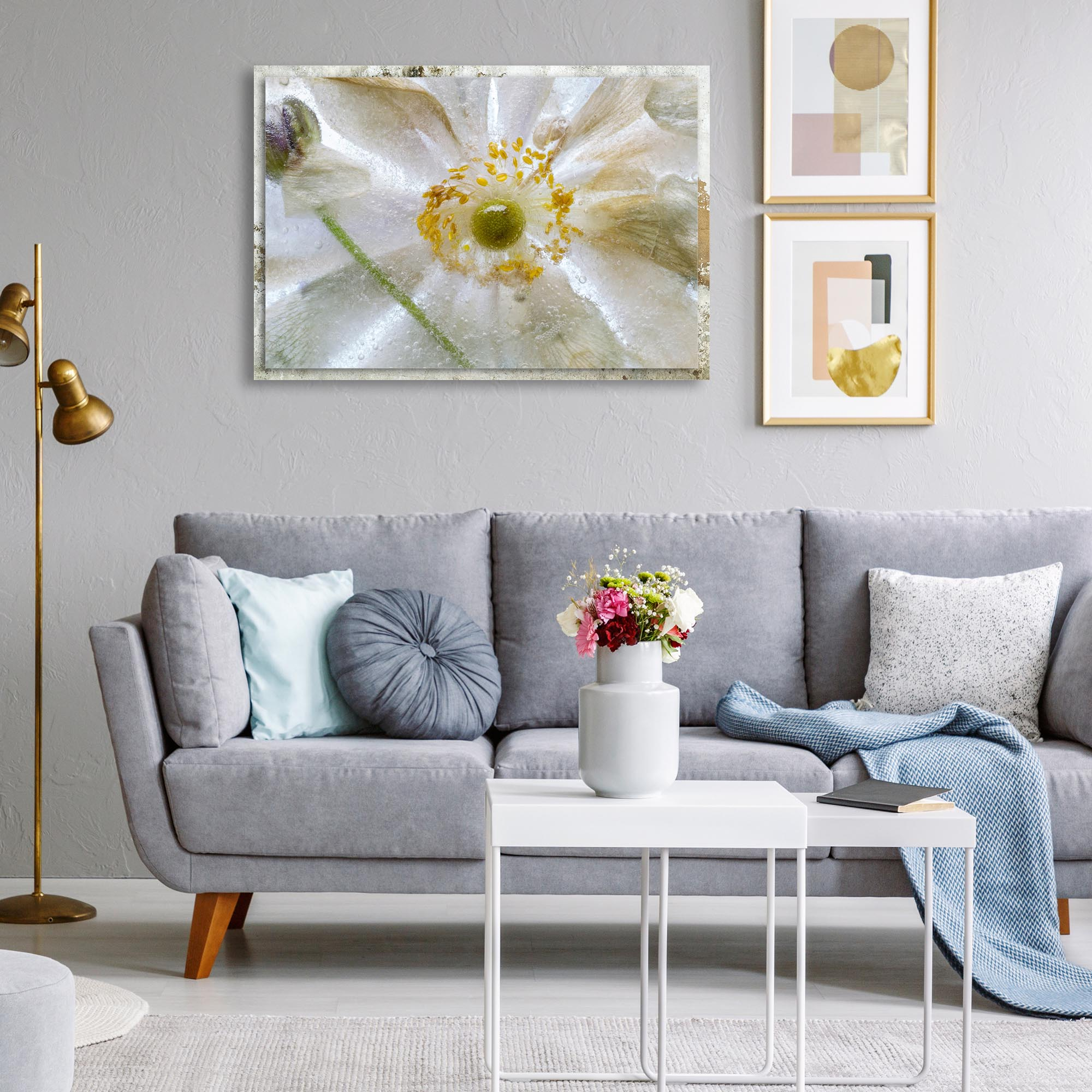 Floral Freeze by Mandy Disher - Modern Farmhouse Floral on Metal - Lifestyle View