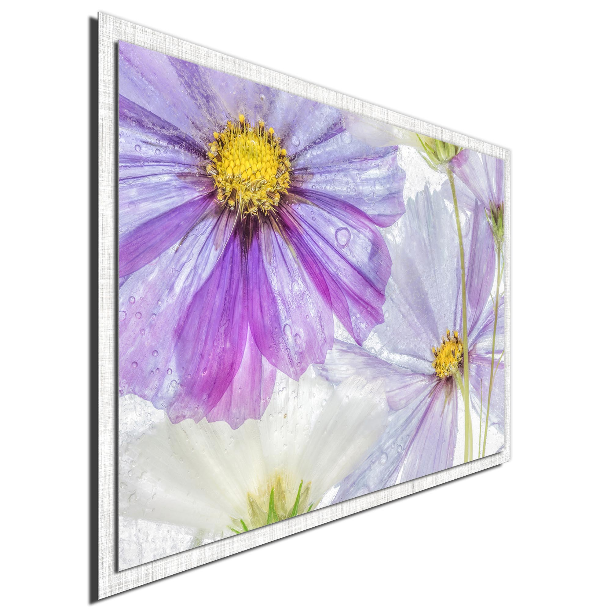 Cosmos Cool by Mandy Disher - Modern Farmhouse Floral on Metal - Image 2