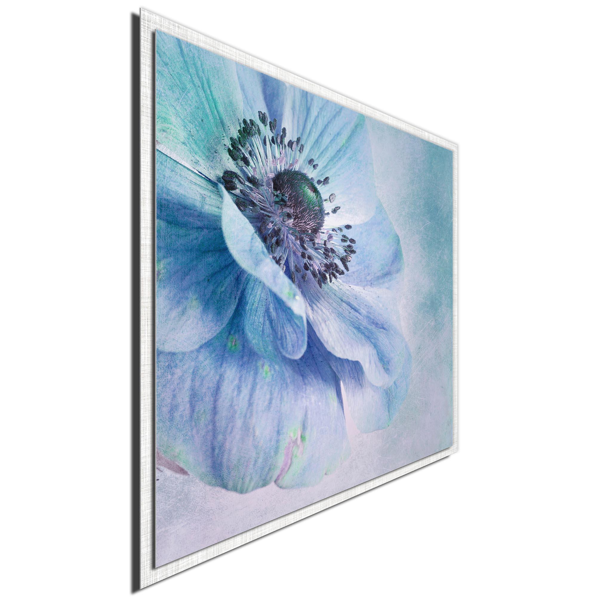 Shades of Blue by Priska Wettstein - Modern Farmhouse Floral on Metal - Image 2