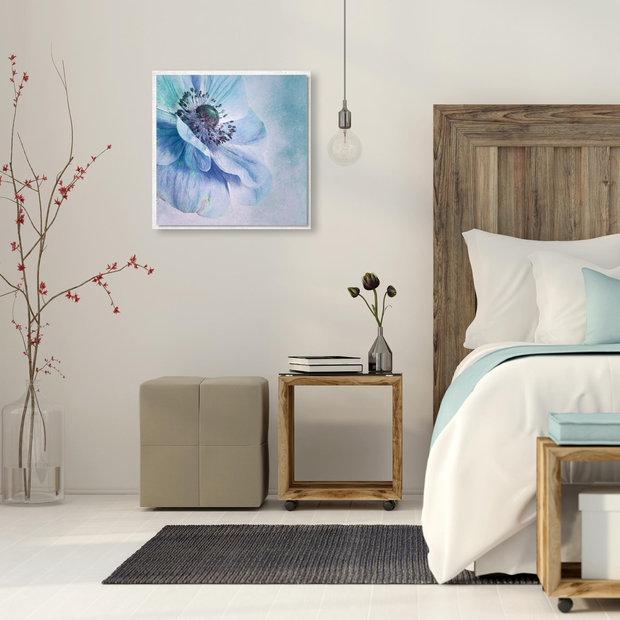 Shades of Blue by Priska Wettstein - Modern Farmhouse Floral on Metal - Lifestyle View