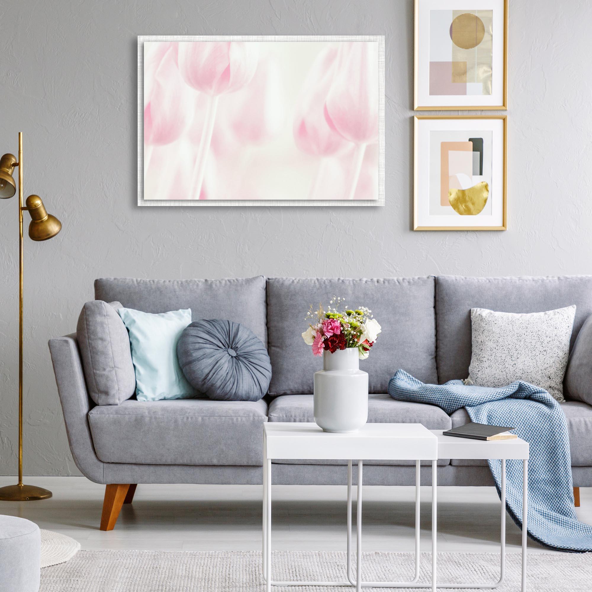 Softness by Delphine Devos - Modern Farmhouse Floral on Metal - Lifestyle View