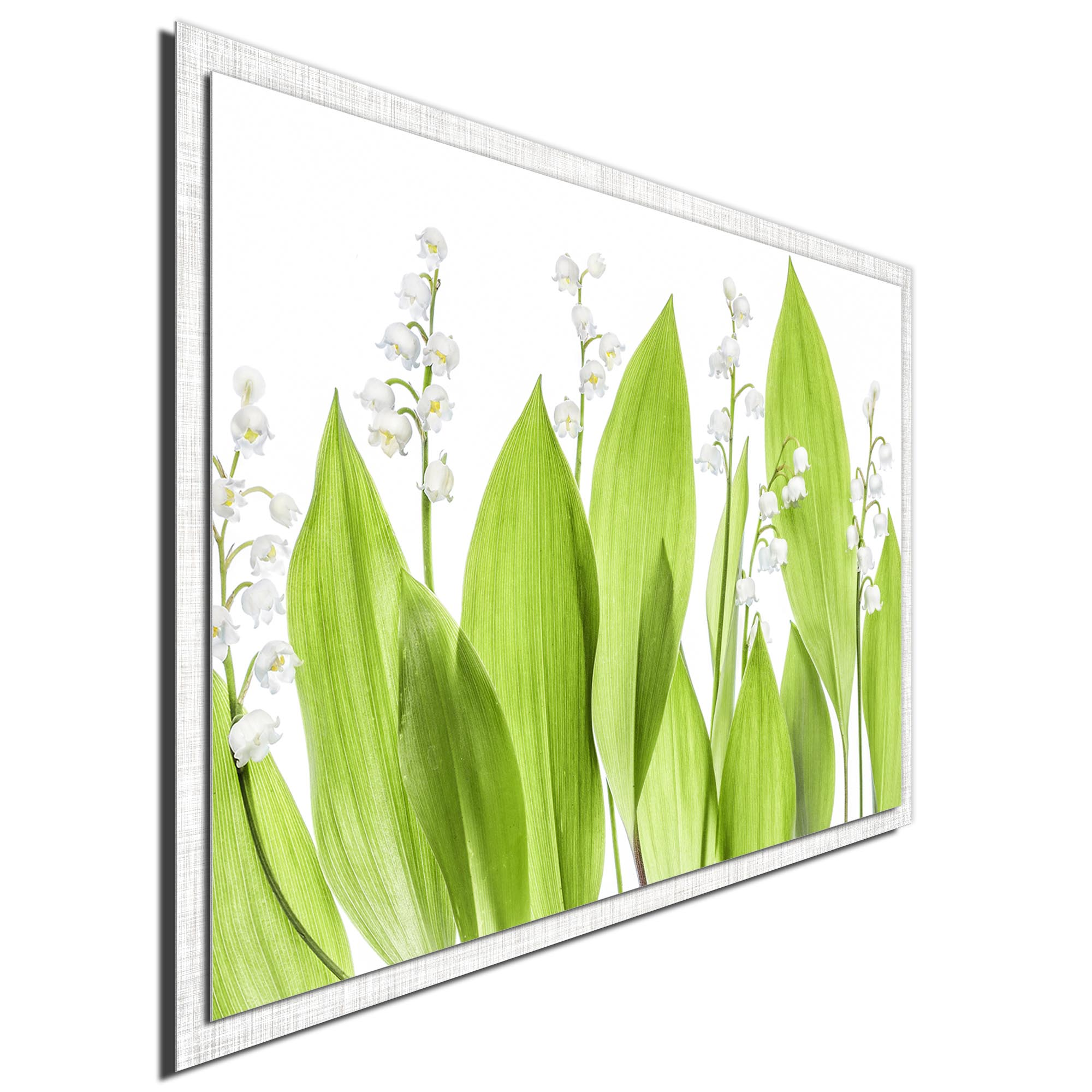 Lily of the Valley by Mandy Disher - Modern Farmhouse Floral on Metal - Image 2