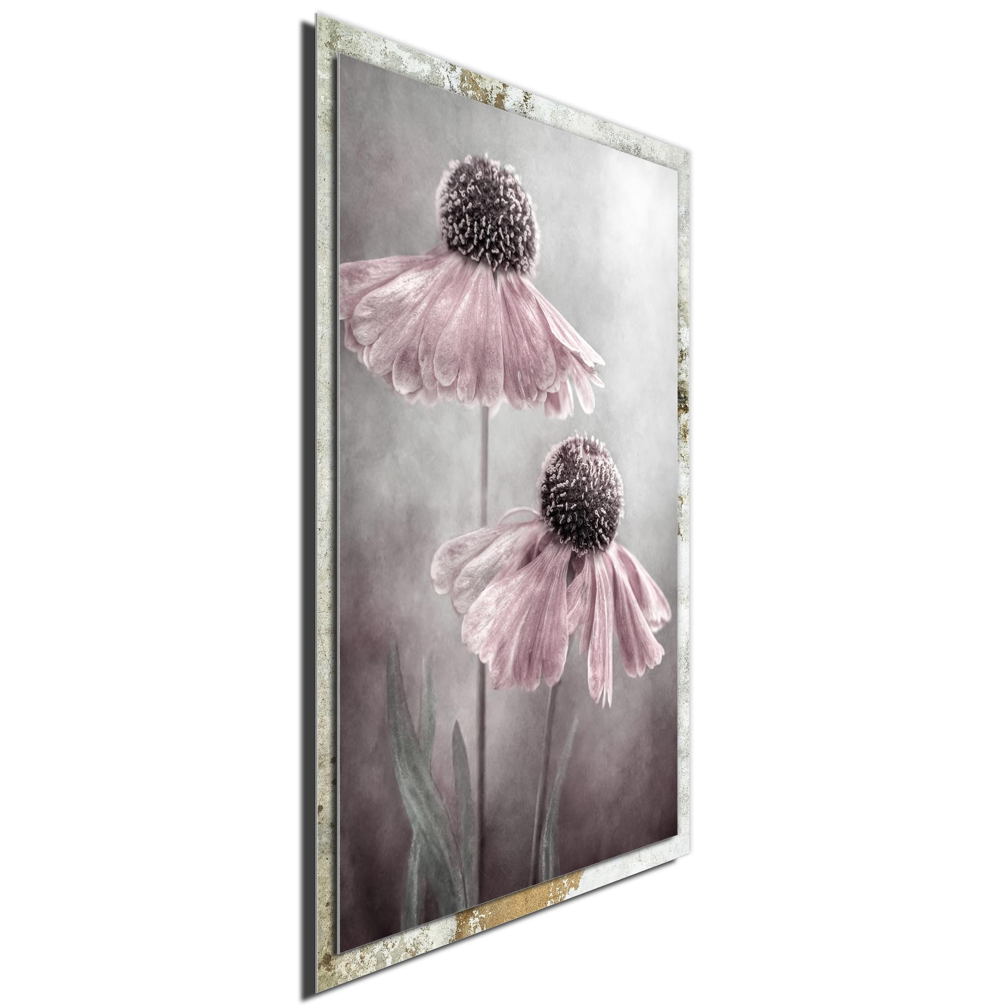Duet by Mandy Disher - Modern Farmhouse Floral on Metal - Image 2