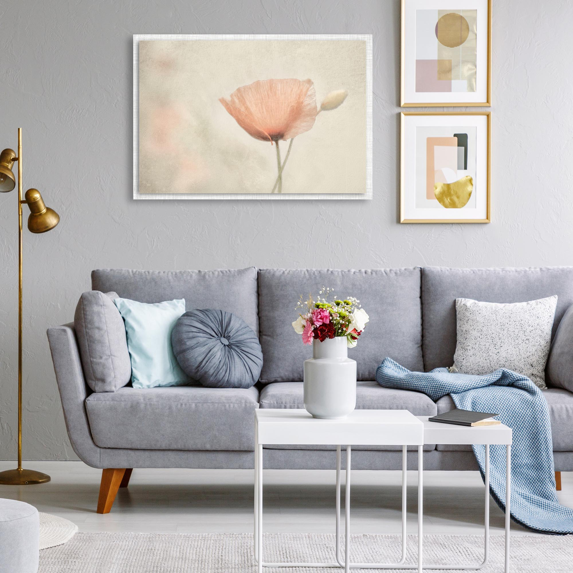 Jewel of Nature by Gilbert Claes - Modern Farmhouse Floral on Metal - Lifestyle View