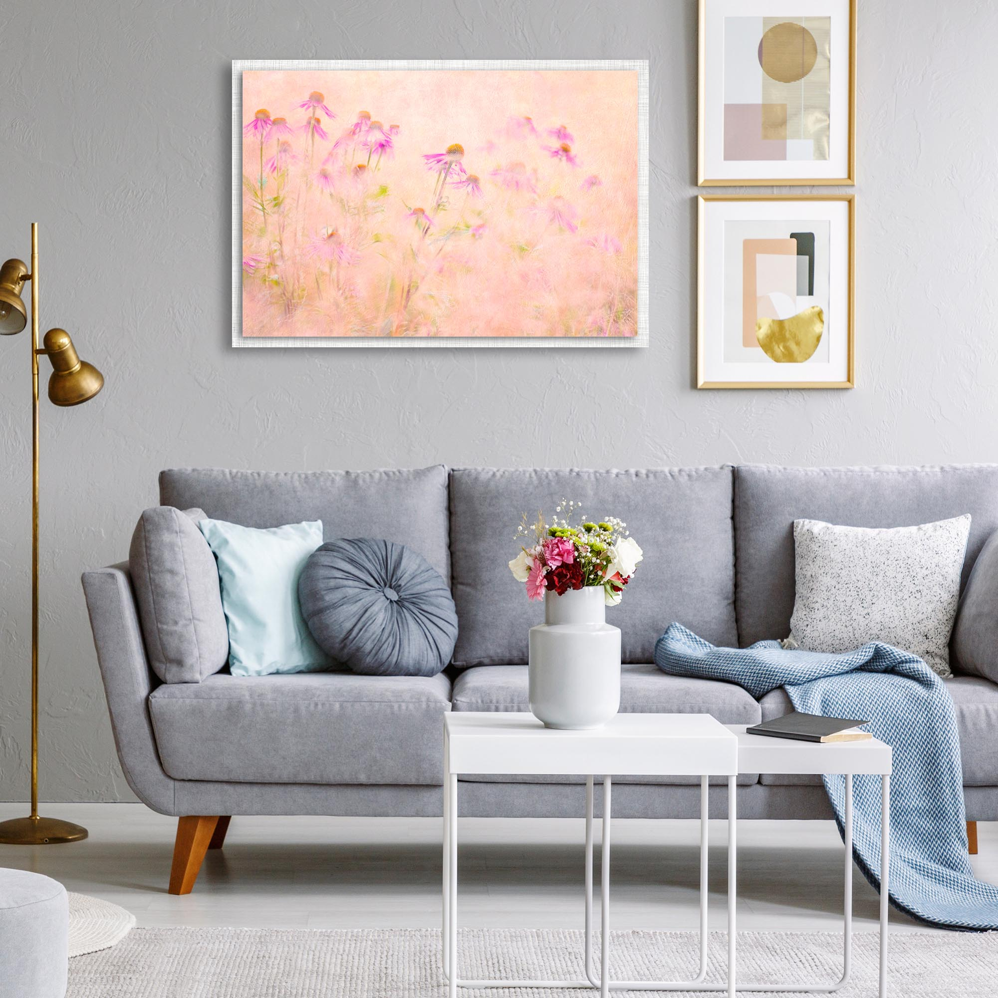 Summertime by Jacky Parker - Modern Farmhouse Floral on Metal - Lifestyle View