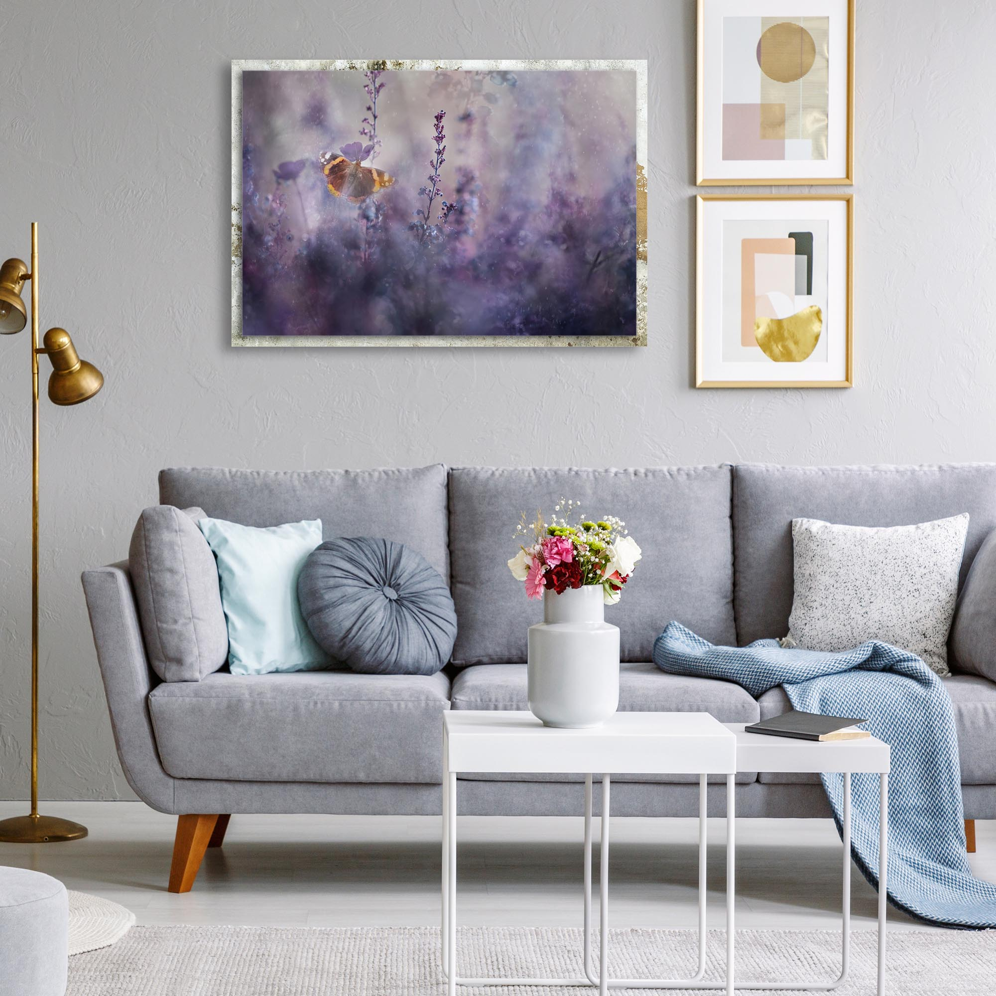 In a Meadow ll by Heidi Westum - Modern Farmhouse Floral on Metal - Lifestyle View