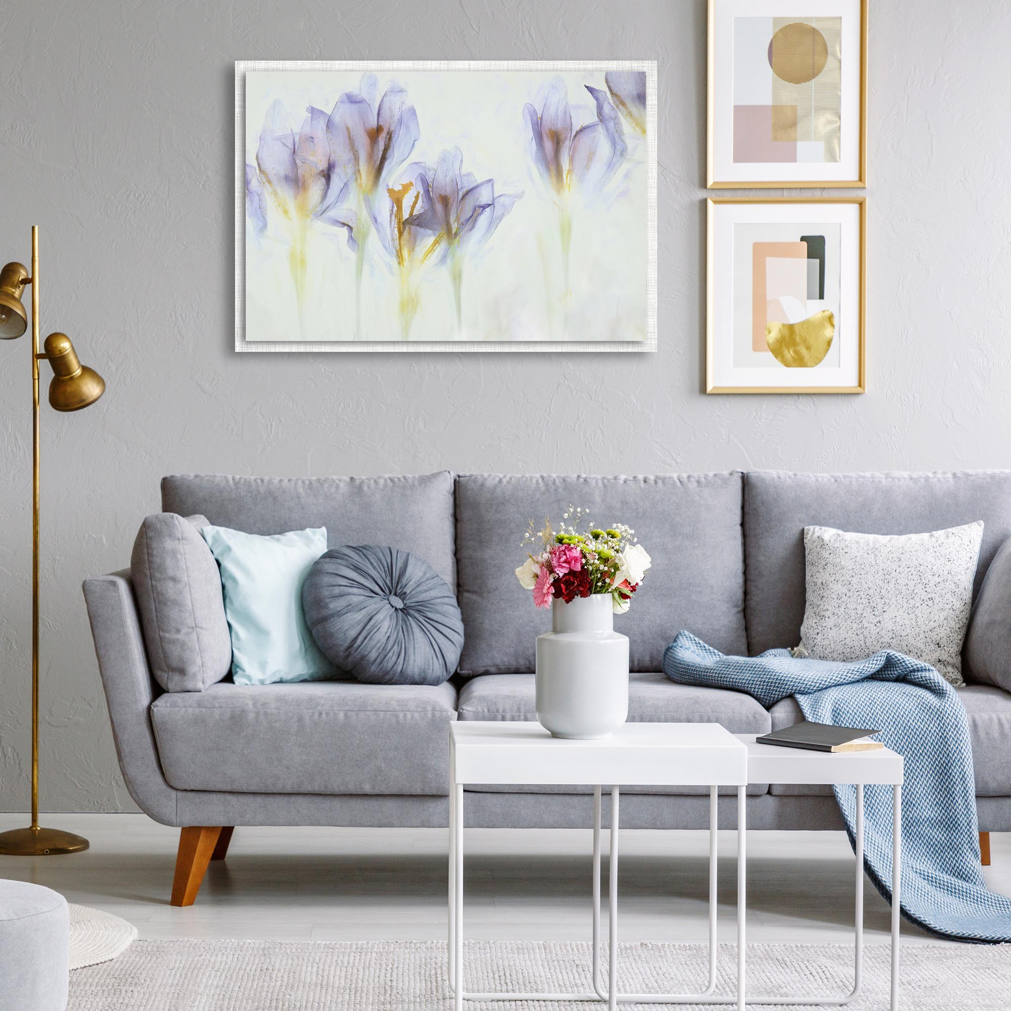 Spring by Nel Talen - Modern Farmhouse Floral on Metal - Lifestyle View
