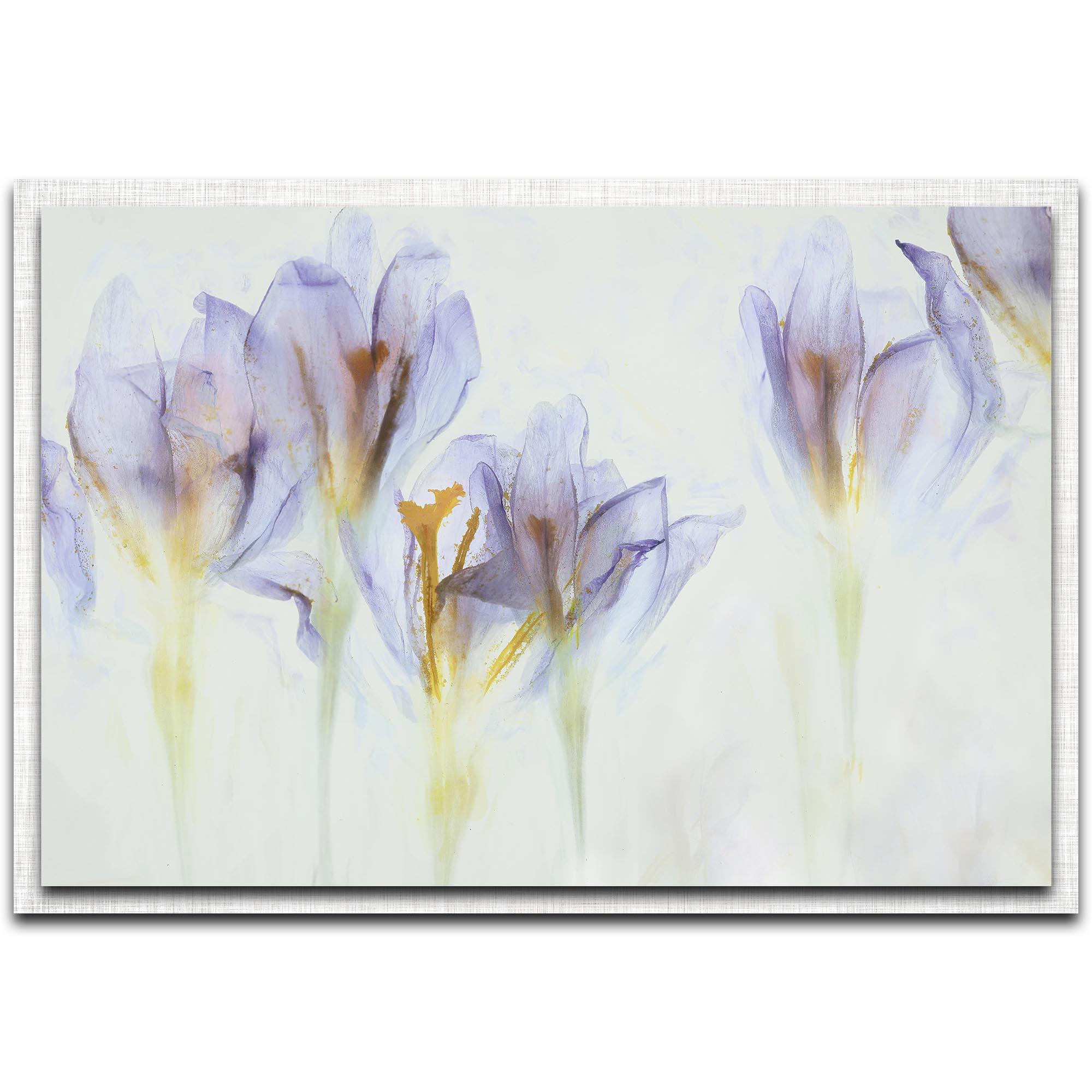 Nel Talen 'Spring' 32in x 22in Modern Farmhouse Floral on Metal