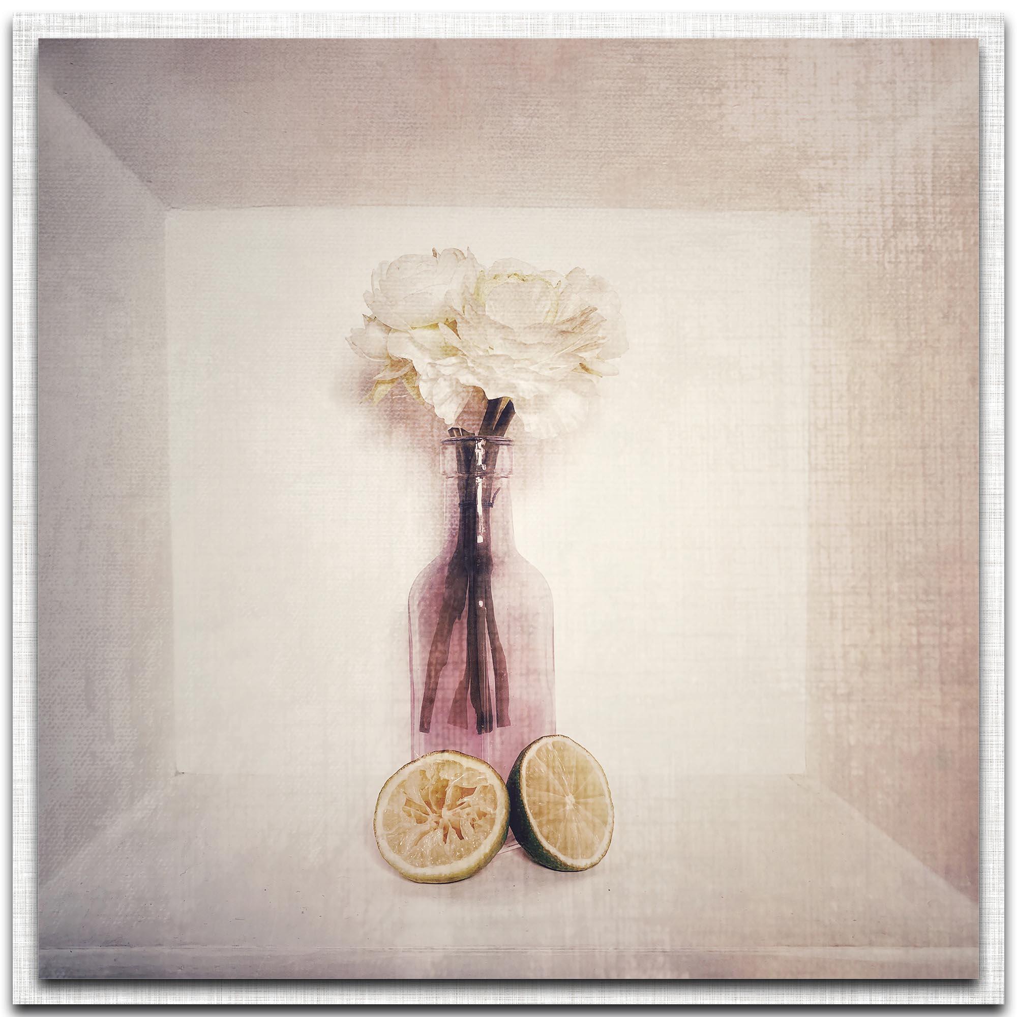 Inna Blar Ross 'A Box Of' 22in x 22in Modern Farmhouse Floral on Metal