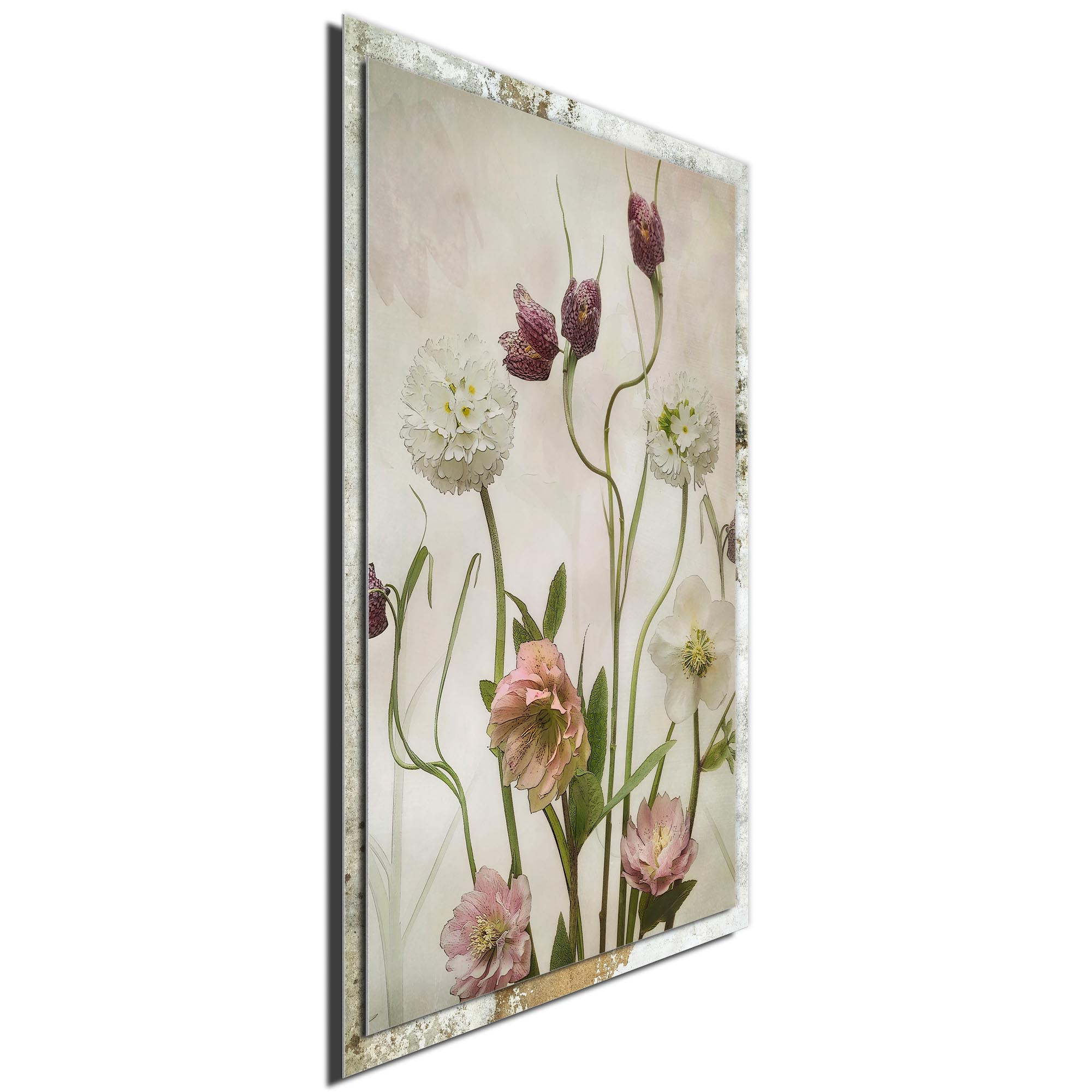 Spring Garden by Sharon Williams - Modern Farmhouse Floral on Metal - Image 2