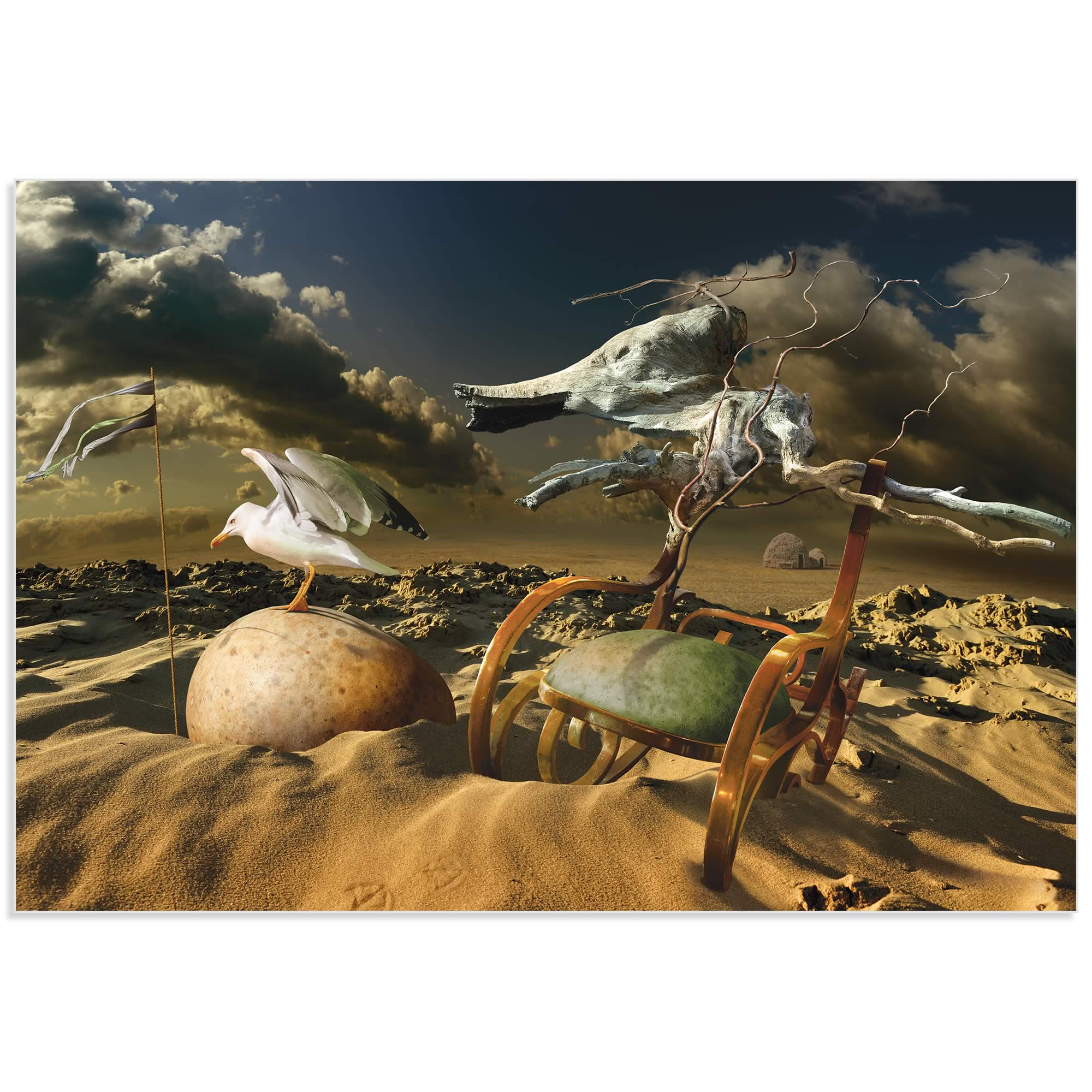 Desert Life by Radoslav Penchev - Surreal Landscape Art on Metal or Acrylic - Alternate View 2