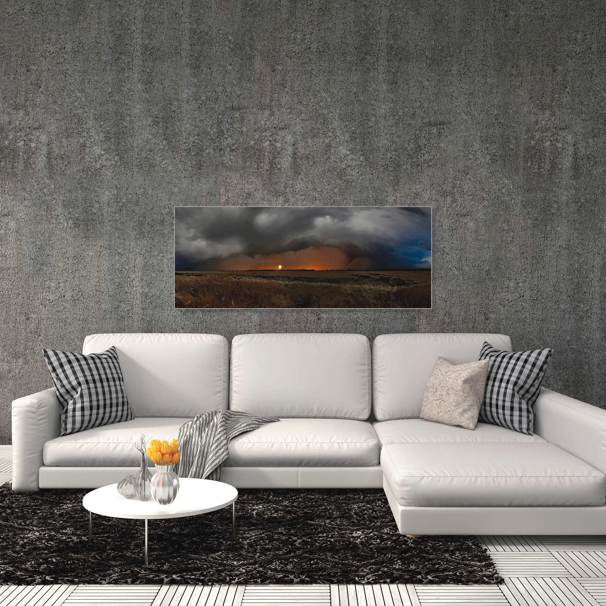 Plains of Fury by Franz Schumacher - Storm Pictures on Metal or Acrylic - Alternate View 3