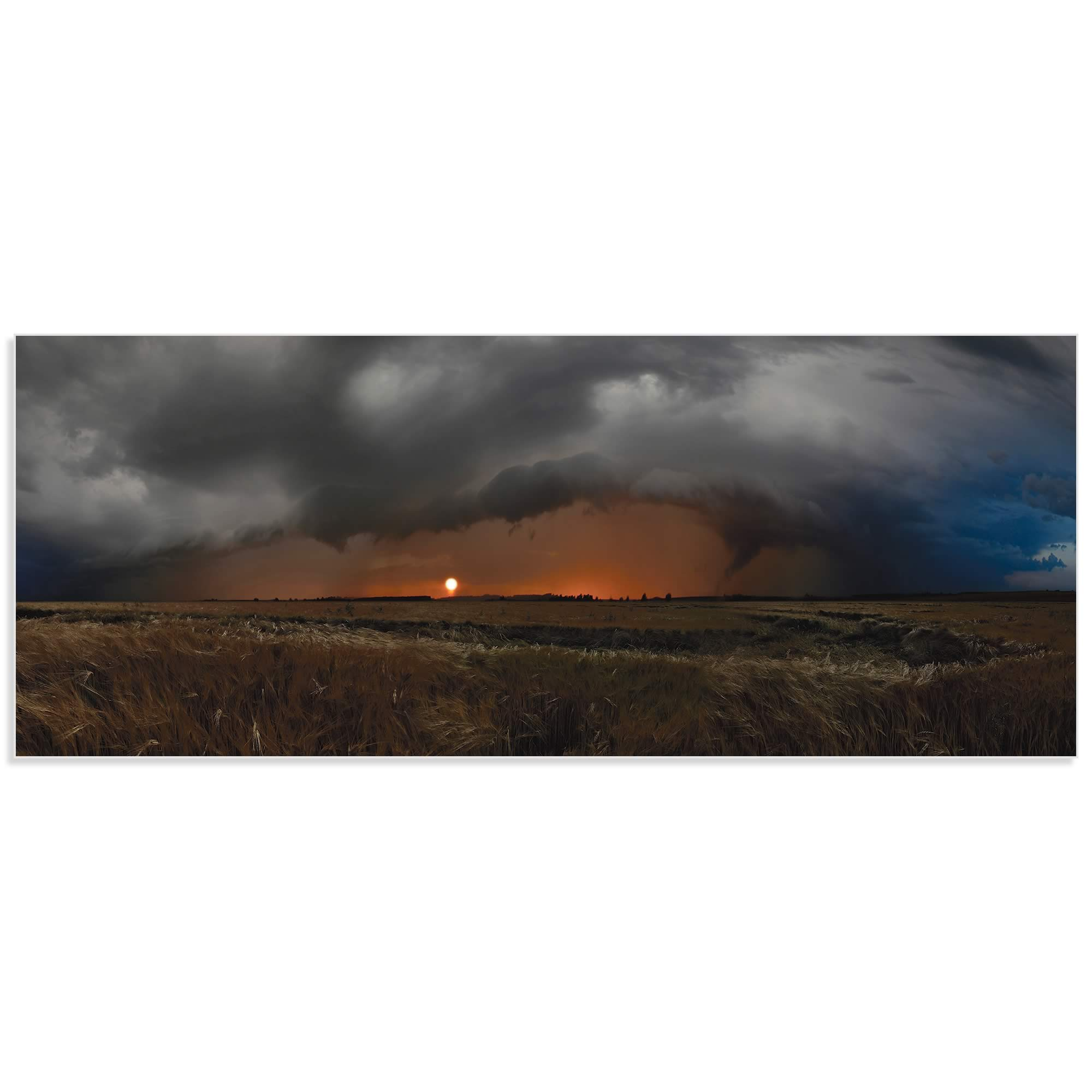 Plains of Fury by Franz Schumacher - Storm Pictures on Metal or Acrylic - Alternate View 2